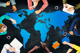 World Global Cartography Globalization Earth International Conce poster