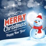 banner snowman white xmas