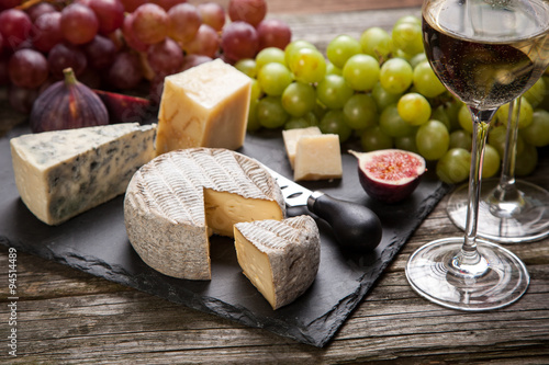 Poster, Tablou Wine and cheese