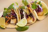 halibut tacos with avocado salsa verde - 94529246