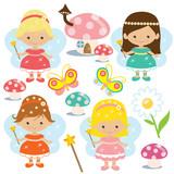 Cute fairy vector illustration