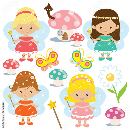 fototapeta na ścianę Cute fairy vector illustration