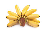 Pisang Mas yellow banana on white poster
