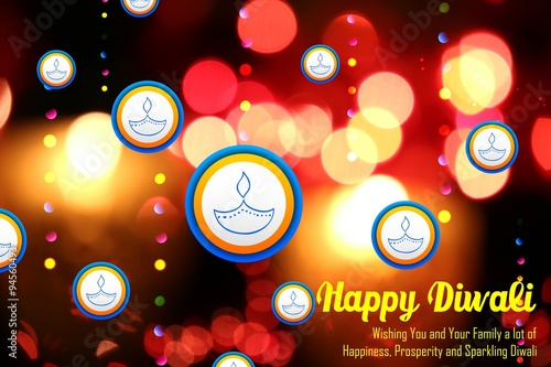 Poster Diwali Holiday background