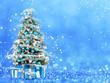 Obrazy na płótnie, fototapety, zdjęcia, fotoobrazy drukowane : Christmas tree from the xmas lights (play with the light).