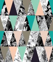 De fondo sin fisuras mosaico tropical