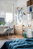 Fototapety Contemporary bedroom idea
