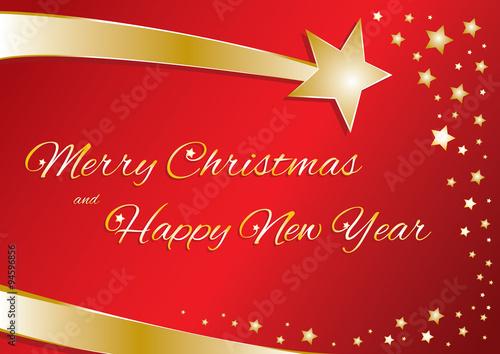 Buon Natale In Inglese.Biglietto Vettoriale Buon Natale E Felice Anno Nuovo In Inglese