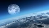 Earth icy ocean aerial view