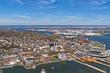Aerial view of Port Newark in Bayonne