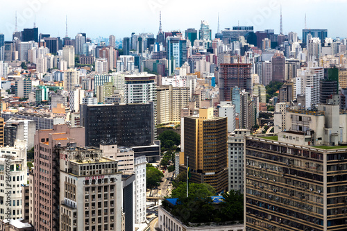 Foto op Aluminium New York Aerial view of Sao Paulo in Brazil