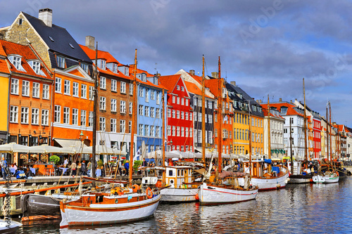 Póster Dinamarca Copenhague Nyhavn