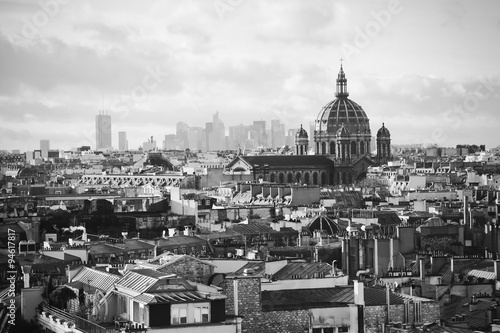 beautiful retro view of  Paris - 94617817