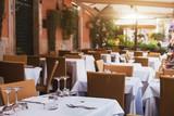 Fototapety pizzeria in Rome, terrace of italian restaurant