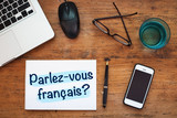 Fototapety learning french concept, do you speak french