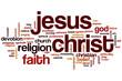 Obrazy na płótnie, fototapety, zdjęcia, fotoobrazy drukowane : Jesus Christ word cloud concept
