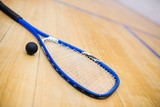 Fototapety Close up of a squash racket and ball
