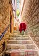narrow alley in Kotor. Montenegro.