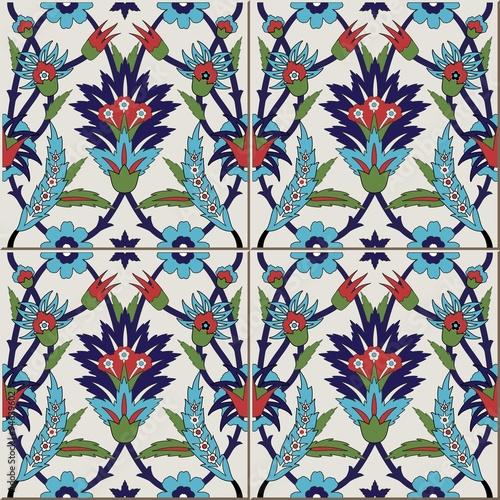 wzor-z-kolorowy-kwiatowy-marokanski-portugalskie-kafelki-azulejo-ozdoby