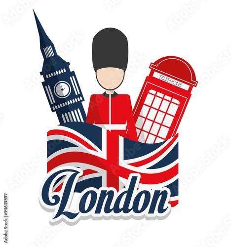 Zdjęcia na płótnie, fototapety, obrazy : London landmarks design