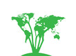 World Map Tree Design