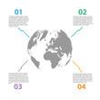 World Globe Infographics Illustration