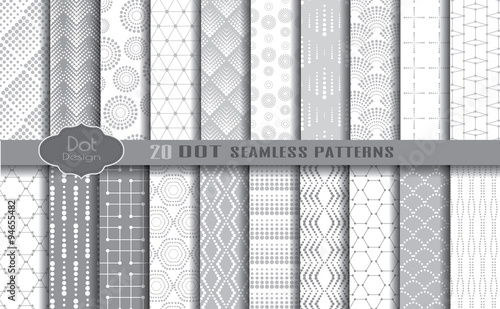 Fototapeta dot seamless patterns.pattern swatches included for illustrator