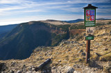 Krkonose national park - on the sigh, view from Czech highest mountain - Snezka