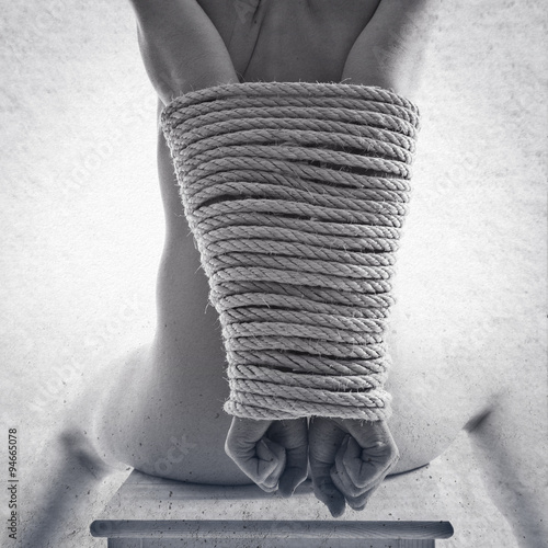 tied up woman - 94665078