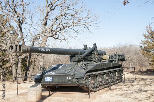 tank outside of the oklahoma 45th museum in oklahoma плакат