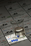 mercury on periodic table of elements poster