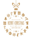 Fototapety christmas ball ornaments gold isolated background