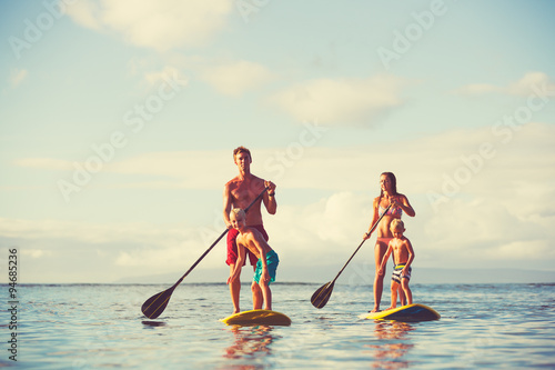 Plakat Family Stand Up Paddling