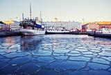 Zimny poranek w Helsinkach, w Finlandii.