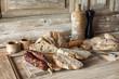 Obrazy na płótnie, fototapety, zdjęcia, fotoobrazy drukowane : Charcuterie et boulangerie Traditionnelle