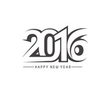Fototapety Happy new year 2016