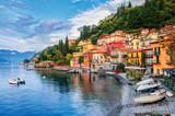 Miasto Menaggio nad jeziorem Como, Mediolan, Włochy