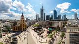 Fototapety Financial district in Frankfurt