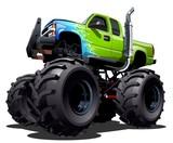 Fototapety Cartoon Monster Truck