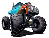 Fototapety Cartoon Monster Truck