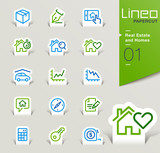 Lineo Papercut - Real Estate and Homes outline icons