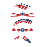 Fototapety USA star flag logo stripes design elements vector icons