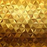 Fototapety Gold pattern low poly 3d triangle geometry fancy