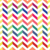 Fototapety Seamless Colorful Chevron Pattern. Vector
