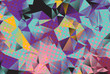 Low poly background with many dots.