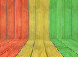 Постер, плакат: reggae colour and wooden floor texture Background