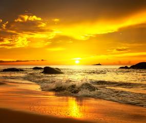 Sunset over  Khao Lak beach