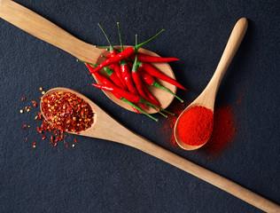 Chili, Red Pepper Flakes and Chili Powder