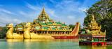Karaweik royal barge, Kandawgyi Lake, Yangon - 94772802