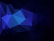 Blue low poly background.